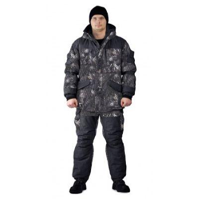 Костюм «ГЕРКОН» зимний мембранный непромокаемый дышащий кмф Чёрный питон