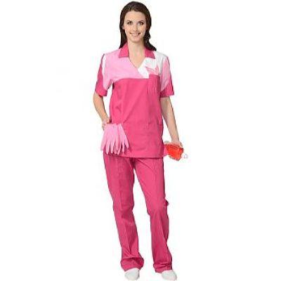 Костюм СИРИУС-ЛОТОС женский: куртка, брюки сливовый с тепло-розовым