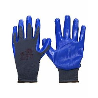 Перчатки НейпНит р. 7(S),8(M),9(L),10(XL),11(XXL) (нейлон+нитрил синий,13-й кл.вязки),в уп.240пар