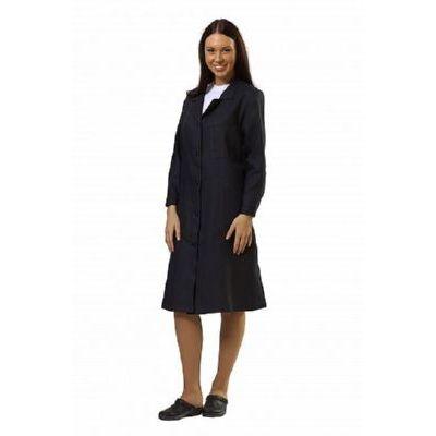 Халат рабочий черный (женский) ХАЛ210