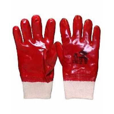 Перчатки РЕДКОЛ (основа джерси-100% хлопок, ПВХ покрытие красного цвета),р.  L,XL, в уп.120пар