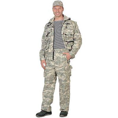 Костюм СИРИУС-Тигр КМФ Пустыня: куртка, брюки, жилет, шорты, 20 карманов!