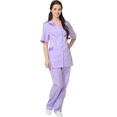 Костюм СИРИУС-ЖЕНЕВА женский: куртка, брюки сиреневый с фиолетовым (СТ)