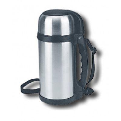 Термос LUO TUO с широким горлом, вакуумный. стальной, с миской, с ручкой, с ремешком, 1,2л (12шт)