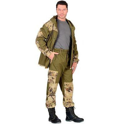 Костюм СИРИУС-Горка куртка, брюки (п-но палаточн.+отделка тк.Кроун) КМФ Саванна