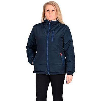 Куртка СИРИУС-SNOW синяя с бежевым на подкладке флис