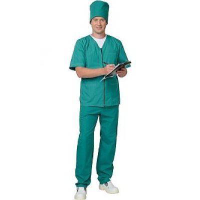 Костюм универсальный на молнии: куртка, брюки зелёный