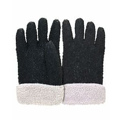 Перчатки утепленные ВИНТЕРЛЕ Грипп ПВХ черного цвета с крошкой, вкладыш акриловый мех, в уп.60пар