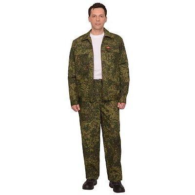 Костюм СИРИУС-Рысь куртка, брюки (тк. Рип-стоп 210) КМФ Цифра зеленая