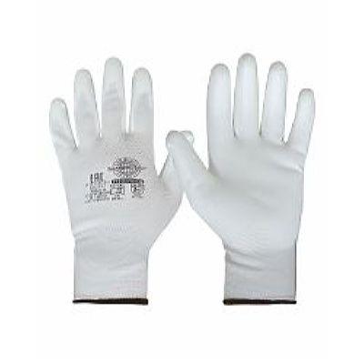Перчатки Нейп Пол-Б (нейлон с полиуретаном, цвет белый) р.  7,8,9,10, в уп.600пар