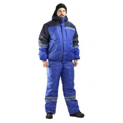 Костюм мужской Стим зимний васильковый с синим