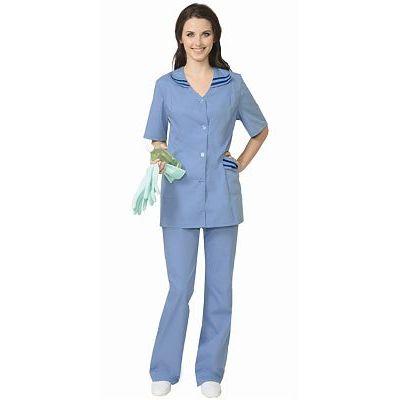 Костюм СИРИУС-ЖЕНЕВА женский: куртка, брюки светло-голубой с тёмно-синим (СТ)