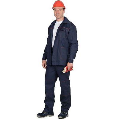 Костюм СИРИУС-Импульс : куртка, брюки синий с красным кантом