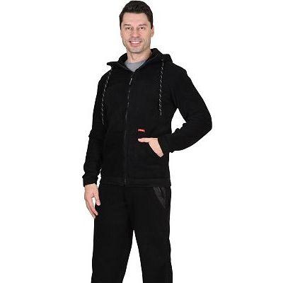 Куртка флисовая СИРИУС-Меркурий черная