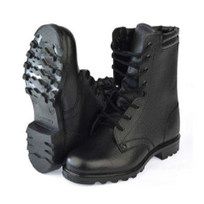 Ботинки с высокими берцами Армейские верх-юфть, подошва-резина
