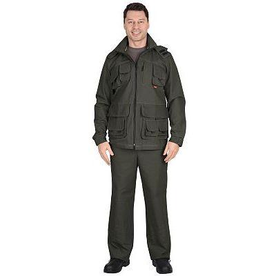 Костюм СИРИУС-Мичиган-2 куртка, брюки (тк. Canvas) темный хаки