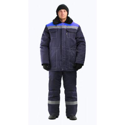 Костюм мужской Строитель-Легион СОП 50 мм зимний т-синий с васильковым