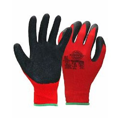 Перчатки НейпЛат (нейлон с латексом, цвет красный с черным) р.  7,8,9,10, в уп.240пар